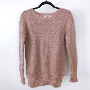 BB DAKOTA Heather Pink Gray Knit Sweater Top S